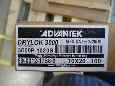 "DRI-SHIELD 3000 DRYLOK 3000 STATIC SHIELDING MOISTURE BARRIER BAG 10""x20"" 100 PK"