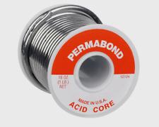 "Alpha Fry ACID CORE Permabond Repair Solder Non-Electrical .125"" Dia 16 oz 12124"