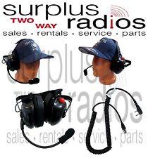Dual Ear Racing Headset For Kenwood NX320 NX220 TK3360 TK2360 TK3312 TK2312