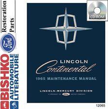 1965 Lincoln Shop Service Repair Manual CD Engine Drivetrain Electrical Body OEM