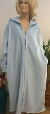 Plus Size Hooded Dressing Gown Zip Front Polari-Fleece s.18/20 Australian Made