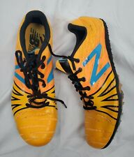 New Balance Racing Silent Hunter Women's YellowOrange Spiked Sneakers sz 7.5