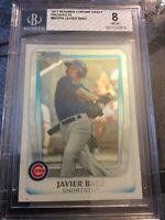 2011 Bowman Chrome Draft Prospects #BDPP6 Javier Baez BGS 8 Chicago Cubs Rookie