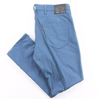 LEVI'S 511 Blue Cotton Slim Straight Trousers Mens W40 L32
