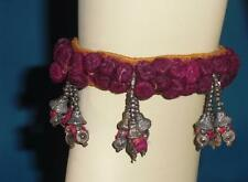 1 Rare Gypsy Banjara Tribal Fusion ATS Belly Dance Armlet Anklet Purple Pink $40