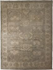 """Hand knotted Indian rug of Oushak design. 9'x 11'9"""""""