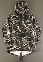 Camouflage Damen Regenjacke Parka Windbreaker Kapuze Mantel faltbar Gr M Primark