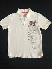 Tommy Hilfiger Boys Size 6 7 Polo Shirt White VGUC Short Sleeve