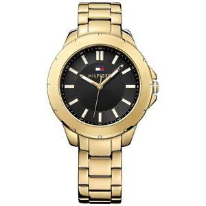 Tommy Hilfiger Uhr 1781434 Kimmie Damenuhr Edelstahl Gold Schwarz Weiß NEU & OVP