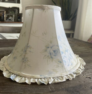 "Simply Shabby Chic Rachel Ashwell Blue British Rose Fabric Lamp shade 9"""