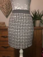 White Stuff Ladies Size 10 Grey Patterned Summer Skirt