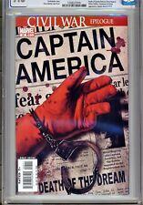 1)CGC 9.8-CAPTAIN AMERICA Vol.5 #25(4/07)DEATH STEVE ROGERS(EPTING CVR)AVENGERS!