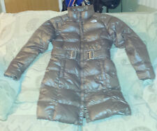 Women's The North Face 600 Down Puffer Winter Parka Coat Brown Long Jacket Sz M