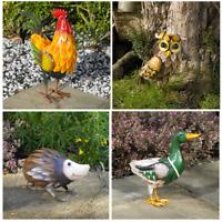 Farm Animal Statues Metal Sculpture Large Garden Lawn Patio Ornament Figures