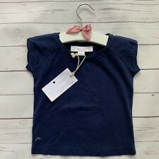 Girls 18-24 Months - T-shirt - CHATEAU DE SABLE French Designer Navy Blue Top