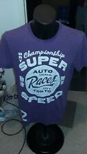 SUPER DRY TEE SHIRT / PURPLE / LARGE / SHORT SLEEVES / GRAPHIC