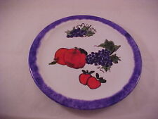 Unique Porcelana Crisa Hand Painted Charger Plate Embossed Heavy Paint