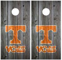 Tennessee Vols Vintage Wood Cornhole Board Decal Wrap Wraps