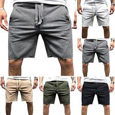 Men's Sports Shorts Running Jogger Fitness Workout Sweat Pants Capri Trousers