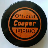 VINTAGE OFFICIAL COOPER  MADE IN CZECHOSLOVAKIA HOCKEY PUCK RARE NICE FRONT LOGO