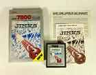 Jinks (Atari 7800, 1989) with original Box, manual, & card - working TESTED.