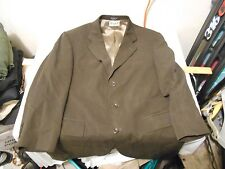 Men's 42R Oscar de la Renta Dark Brown Blazer Sport Sports Coat Jacket 41067