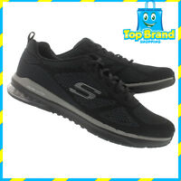 MENS SHOES SKECHERS SKECH AIR INFINITY  - BLACK - 51480 - ALL SIZES GYM SPORT