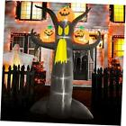 10 ft Halloween Inflatables Dead Tree with Pumpkins Yard Decoration,