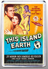 THIS ISLAND EARTH movie poster LARGE FRIDGE MAGNET - Sci-Fi classic! Style 'B'