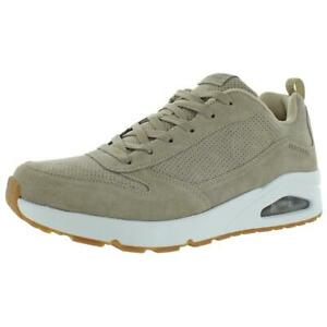Skechers Mens Uno Taupe Sport Athletic Shoes Sneakers 12 Medium (D) BHFO 2773