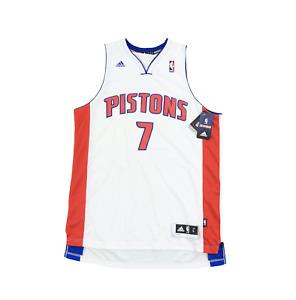 New Adidas Large NBA Detroit Pistons Brandon Knight Autographed Swingman Jersey