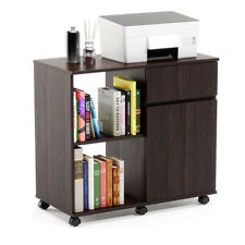 Mobile Printer Stand with Storage Office Cabinet Wooden Under Desk Cabinet