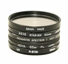 52mm Camera Filter Assortment - 5 Filters - PL, UV,Star-Six, Soft Spot, Haze