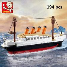 194pcs Titanic Jack Rose Figures DIY Model Building Blocks Toys Child Kids Gift
