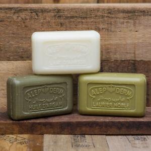 ALEPPO SOAP BARS - Donkey Milk, Argan & Laurel , SAVON DE MARSEILLE French Soap