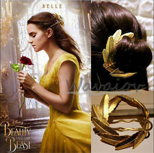 Handmade Beauty and the Beast Belle's Hairpin Cospaly Bride Hair Party Headwear