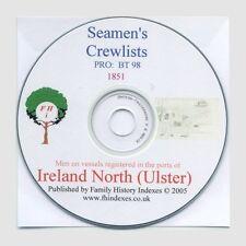 Genealogy - Seamen, Ireland North (Ulster) & Index 1851
