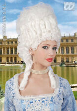 LADIES DELUXE BIG MARIE ANTOINETTE WIG WHITE FANCY DRESS PERIOD POMPADOUR WIG