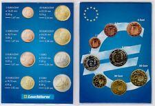 España 2001-Set De 8 Monedas De Euro (unc)
