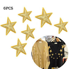 6PCS Star Fabric Sticker Iron Embroidery Badge Patch Clothes Ornament Applique