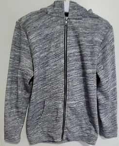 Old Navy Youth Boys Zip Up Sweater Sz L(10-12) Grey Hooded