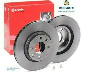 Pair Brake Discs Brembo Front For Iveco Daily Line Bus 40-50-60C15 From 2014