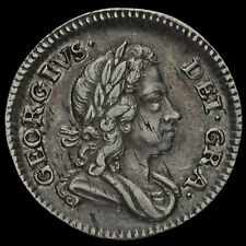 More details for 1717 george i early milled silver maundy threepence