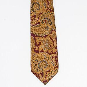 Edsor Kronen Wild Flower Paisley Print Twill Silk Tie