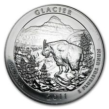 5 oncia 999 Moneta d'Argento argento ATB Glacier Nazionale Parco 2011