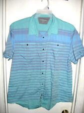 Calvin Klein Jeans Electric Blue Purple Striped Short Sleeve Top Shirt XXL