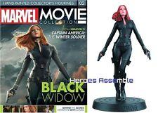 MARVEL MOVIE COLLECTION #2 Black Widow FIGURINA & MAGAZINE Eaglemoss Nuovo