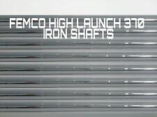 8 R/S REGULAR FLEX or STIFF FEMCO (FST) IRON SHAFTS 370 Parallel 100g HI LAUNCH