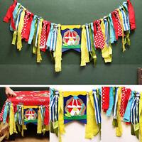 UK_ CN_ LX_ EG_ CIRCUS THEME COLORFUL CLOTH RAG BANNER DINING CHAIR PARTY BIRTHD