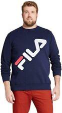 FILA Sweatshirt Men's Big & Tall Wordmark Logo Crew Neck Long Sleeve Fleece